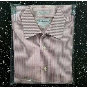 Burberrys of London Mens Long Sleeve Shirt- Red